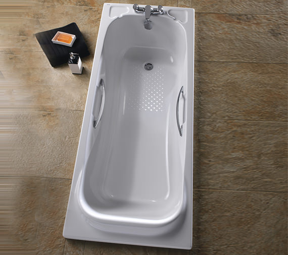 Twyford Signature 1700 x 700mm Acrylic Bath With Grips | SE8520WH
