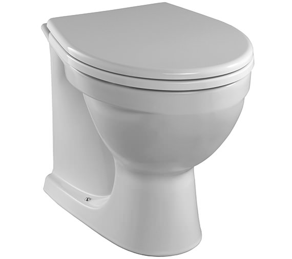 Twyford Alcona Back-To-Wall WC Pan 520mm - AR1438WH