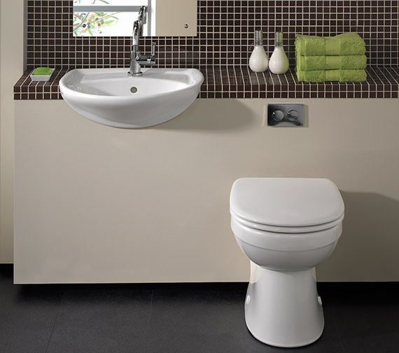 Twyford Galerie Flushwise Back To Wall Wc Pan 517mm Gn1438wh