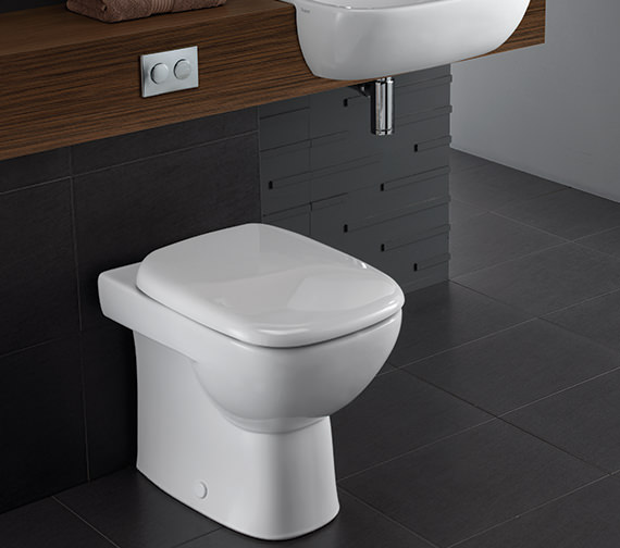 Additional image of Twyford Moda Back To Wall WC Pan 509mm - MD1438WH
