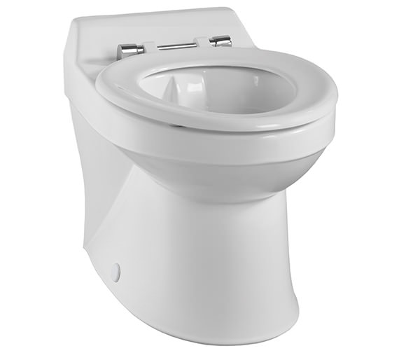 Twyford Sola School Rimless 350 Back-To-Wall WC Pan - SA1514WH