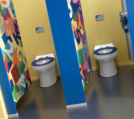 Additional image of Twyford Sola School Rimless 350 Back-To-Wall WC Pan - SA1514WH