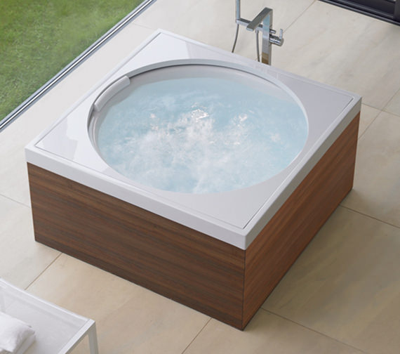 Duravit Blue Moon 1400mm Square Bath With Frame Combi