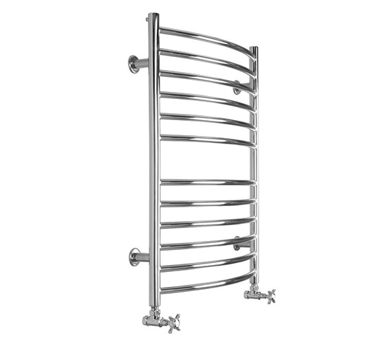 SBH Midi Curve Dual Fuel Towel Radiator 600 x 810mm - SS202