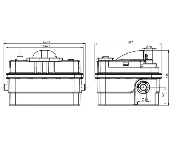Technical drawing QS-V43822 / 1102