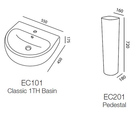 Technical drawing QS-V43858 / EC101