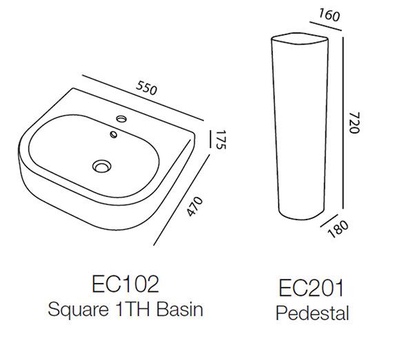 Technical drawing QS-V43859 / EC102