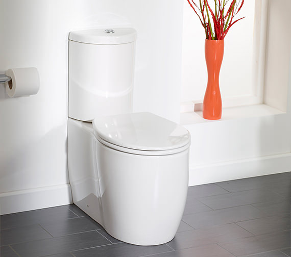 Additional image of Essential Eternity Classic Fully Back-To-Wall WC With Cistern And Seat