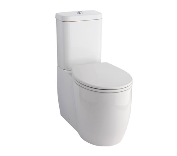 Essential Eternity Square Fully Back-To-Wall WC With Cistern And Seat