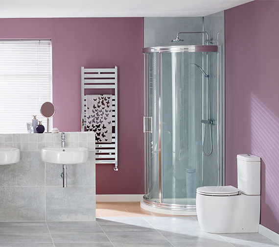 Additional image of Essential Eternity Square Fully Back-To-Wall WC With Cistern And Seat
