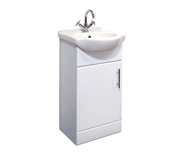 Essential Gem Vanity Basin Unit White 450mm - GEM005W