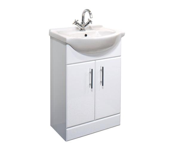 Essential Gem White Vanity Basin Unit 550mm - GEM001W