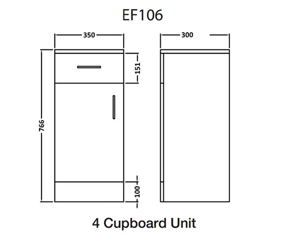 Technical drawing QS-V43874 / EF106C