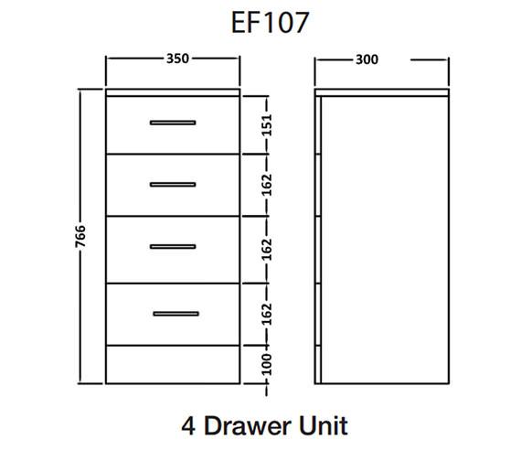 Technical drawing QS-V43876 / EF107C