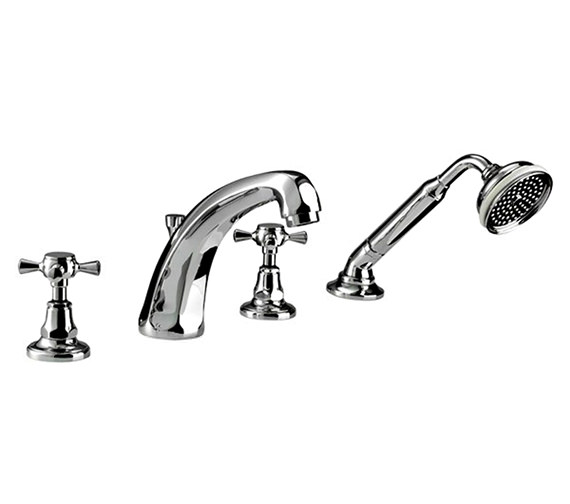 Imperial Glace 4 Hole Bath Filler Tap And Handset Kit - ZXT6024100