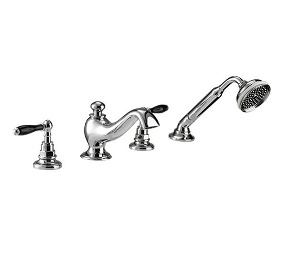 Imperial Notte 4 Hole Bath Filler Tap With Handset Kit - ZXT6050100
