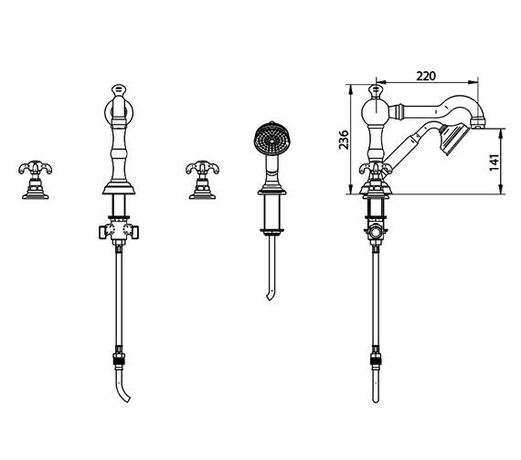 Technical drawing QS-V44070 / ZXT6036100