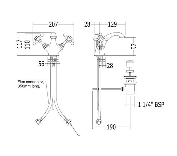 Technical drawing QS-V44073 / XO60100100W