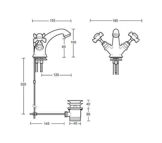 Technical drawing QS-V44097 / XG61100100N