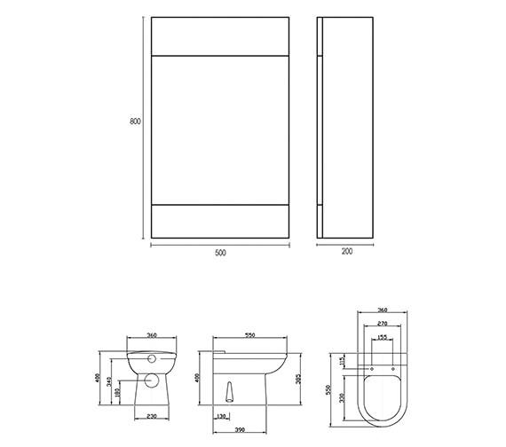 Technical drawing QS-V45081 / VTYEB200/VTY001