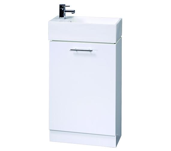 Aqva New England Small Bathroom Vanity Unit 475mm - VTY058