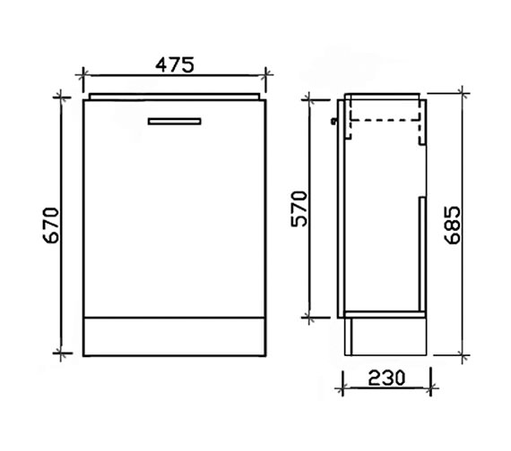 Technical drawing QS-V45084 / VTY058