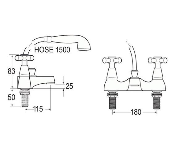 Technical drawing QS-V45171 / MILAN 106