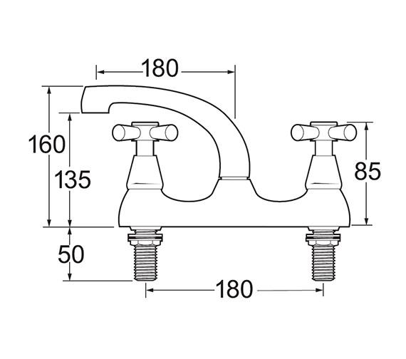 Technical drawing QS-V45212 / MILAN 105