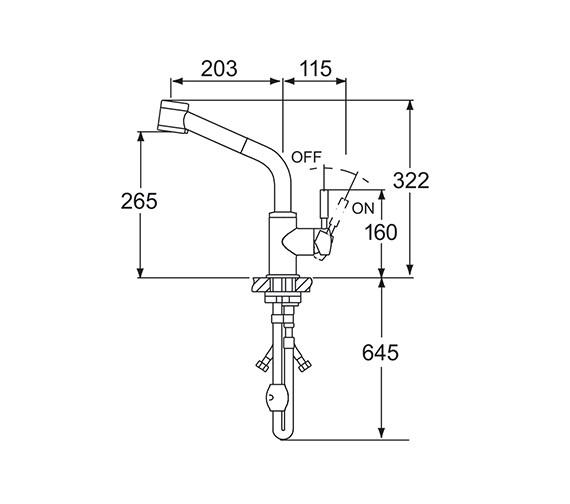 Technical drawing QS-V45228 / VSN115