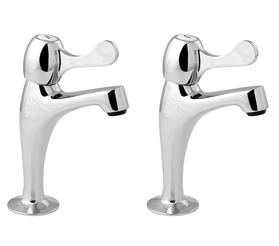 Deva Lever Action Contract Sink Pillar Taps - CNTL03