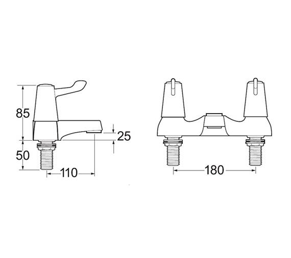 Technical drawing QS-V45286 / DLT108