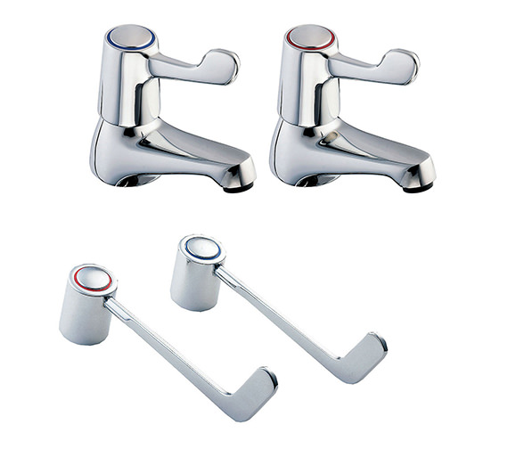 Deva Lever Action Basin Taps With 6 Inch Lever - DLV101