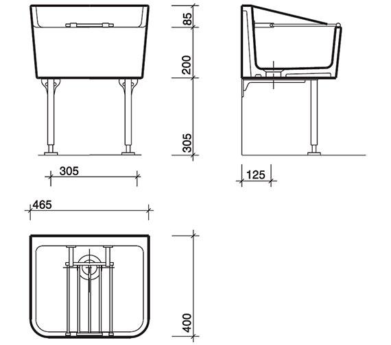 Technical drawing QS-V45371 / FC1034WH