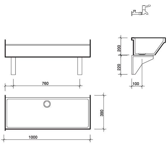 Technical drawing QS-V45378 / FC2350WH