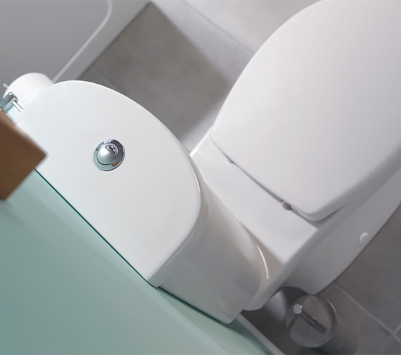 Additional image of Twyford Galerie Flushwise Close Coupled WC 690mm - GECO42WH