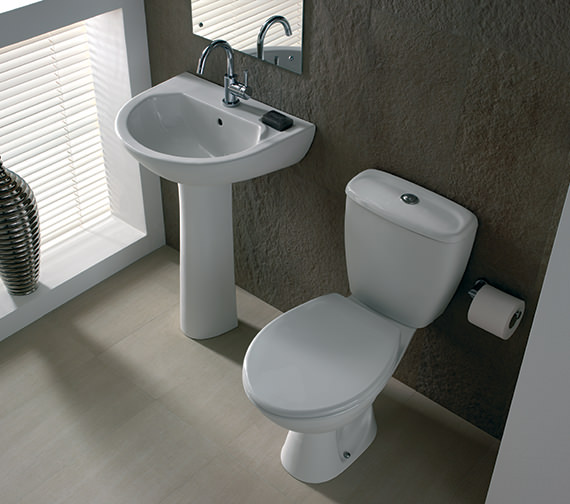 Additional image of Twyford Option Close Coupled WC Pan With Dual Flush Cistern 630mm