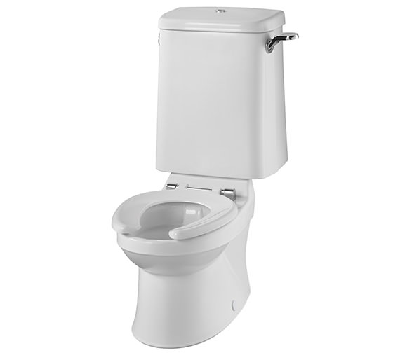 Twyford Sola School Rimless 300 Close Coupled WC Pan - SA1512WH