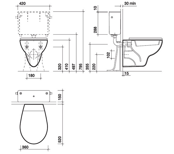 Technical drawing QS-V45409 / AR1738WH