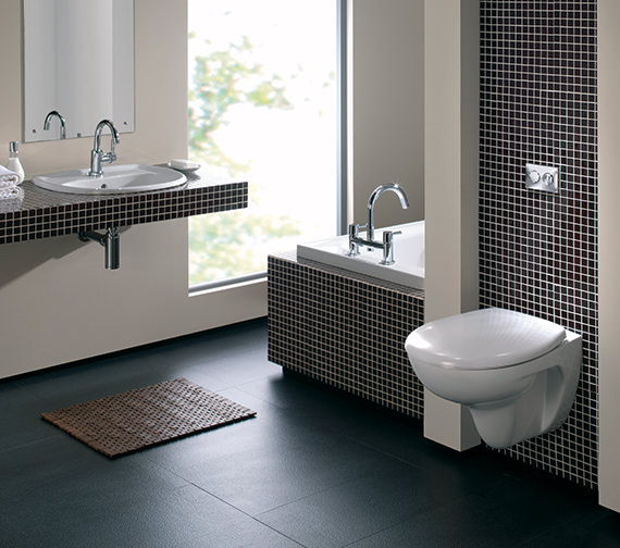 Additional image of Twyford Galerie Wall Hung WC Pan 540mm - GN1718WH