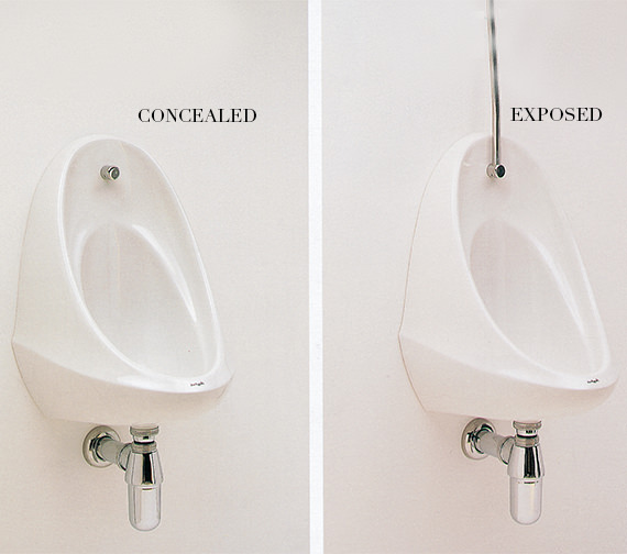 Additional image of Twyford Camden 500 x 350 x 330mm Single Urinal Bowl - VC7003WH