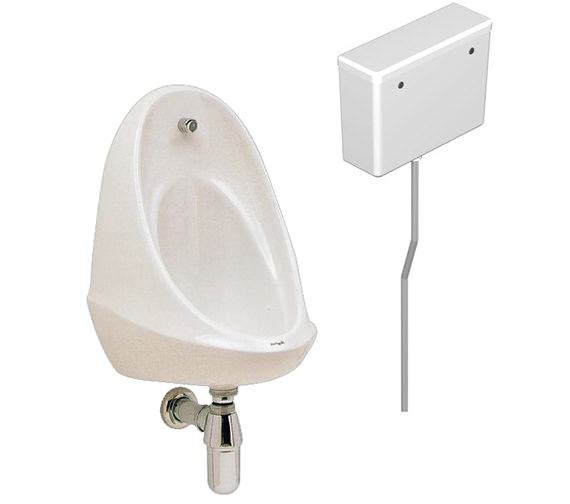 Twyford Camden 1 Urinal Set With Concealed Flush Pipe And Cistern