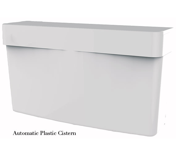 Alternate image of Twyford Clifton 2 Urinal Set With Exposed Flush Pipe And Cistern