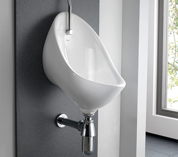 Alternate image of Twyford Clifton 3 Urinal Set With Exposed Flush Pipe And Cistern
