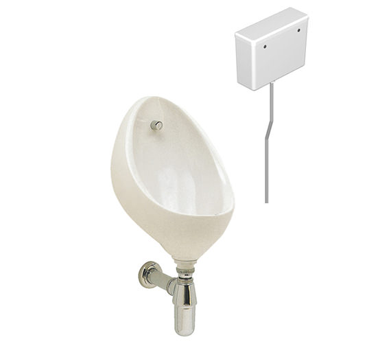 Twyford Clifton 1 Urinal Set With Concealed Flush Pipe And Cistern