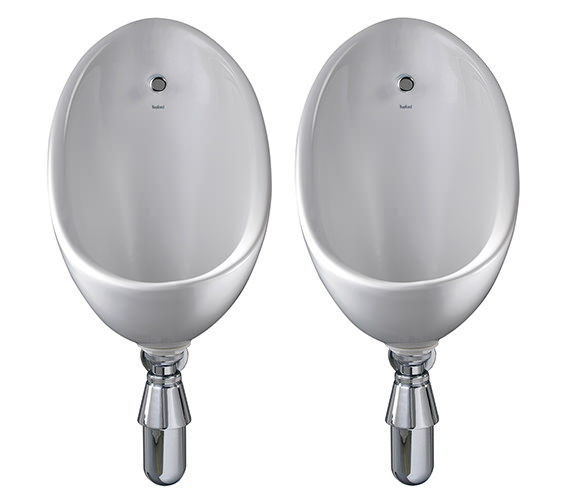 Alternate image of Twyford Clifton 2 Urinal Set With Concealed Flush Pipe And Cistern