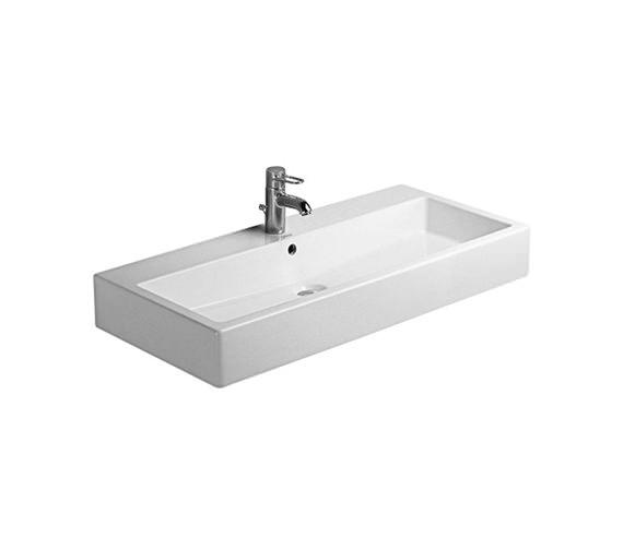 Duravit Vero White 1000mm 1 Tap Hole Grinded Washbasin - 0454100027