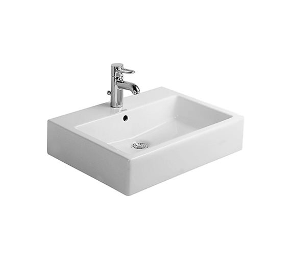 Duravit Vero White 600mm 1 Tap Hole Grinded Washbasin - 0454600027