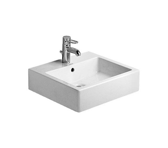 Duravit Vero White 500 x 470mm 1 Tap Hole Basin - 0454500000