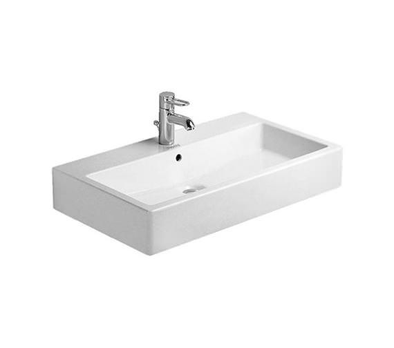Duravit Vero White 800mm 1 Tap Hole Grinded Washbasin - 0454800027