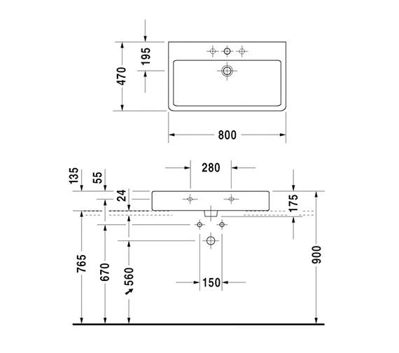 Technical drawing QS-V45470 / 0454800027